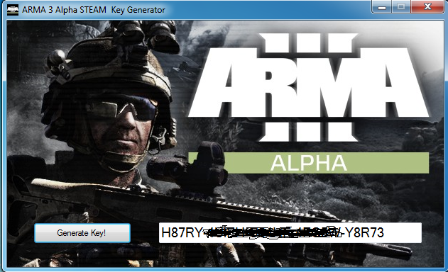 ARMA 3 Alpha STEAM Key Generator – Free Giveaway