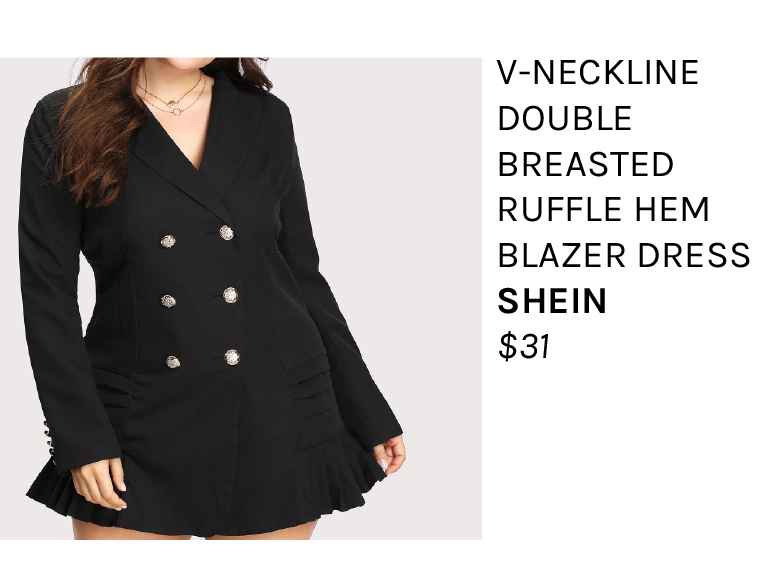Plus Size Blazer Dress