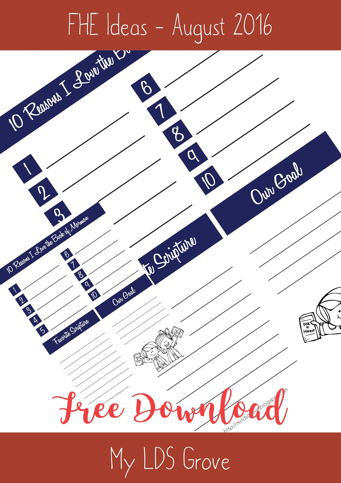 Printable] Family Home Evening Ideas <br> \