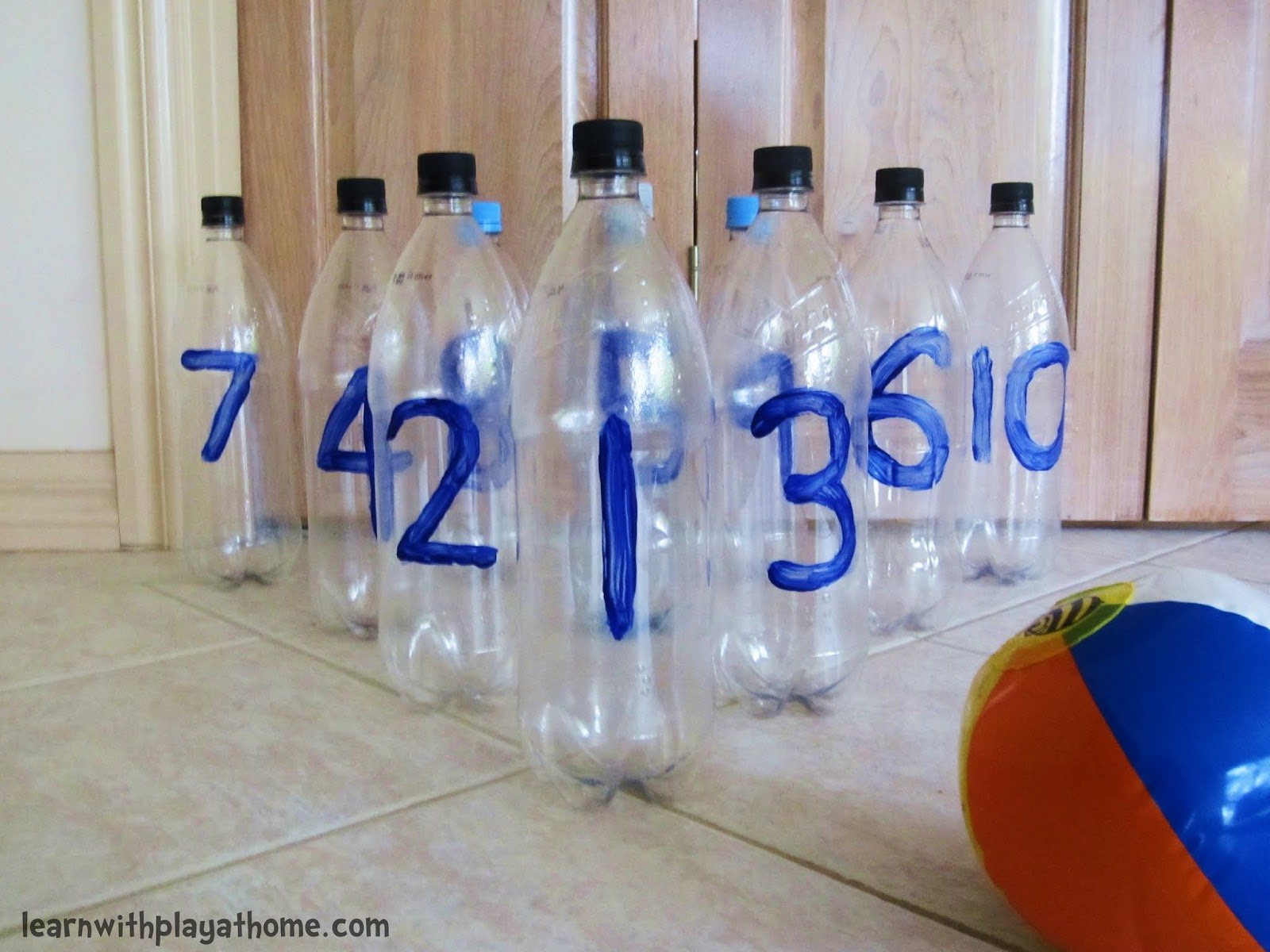 Image result for bowling with plastic bottles