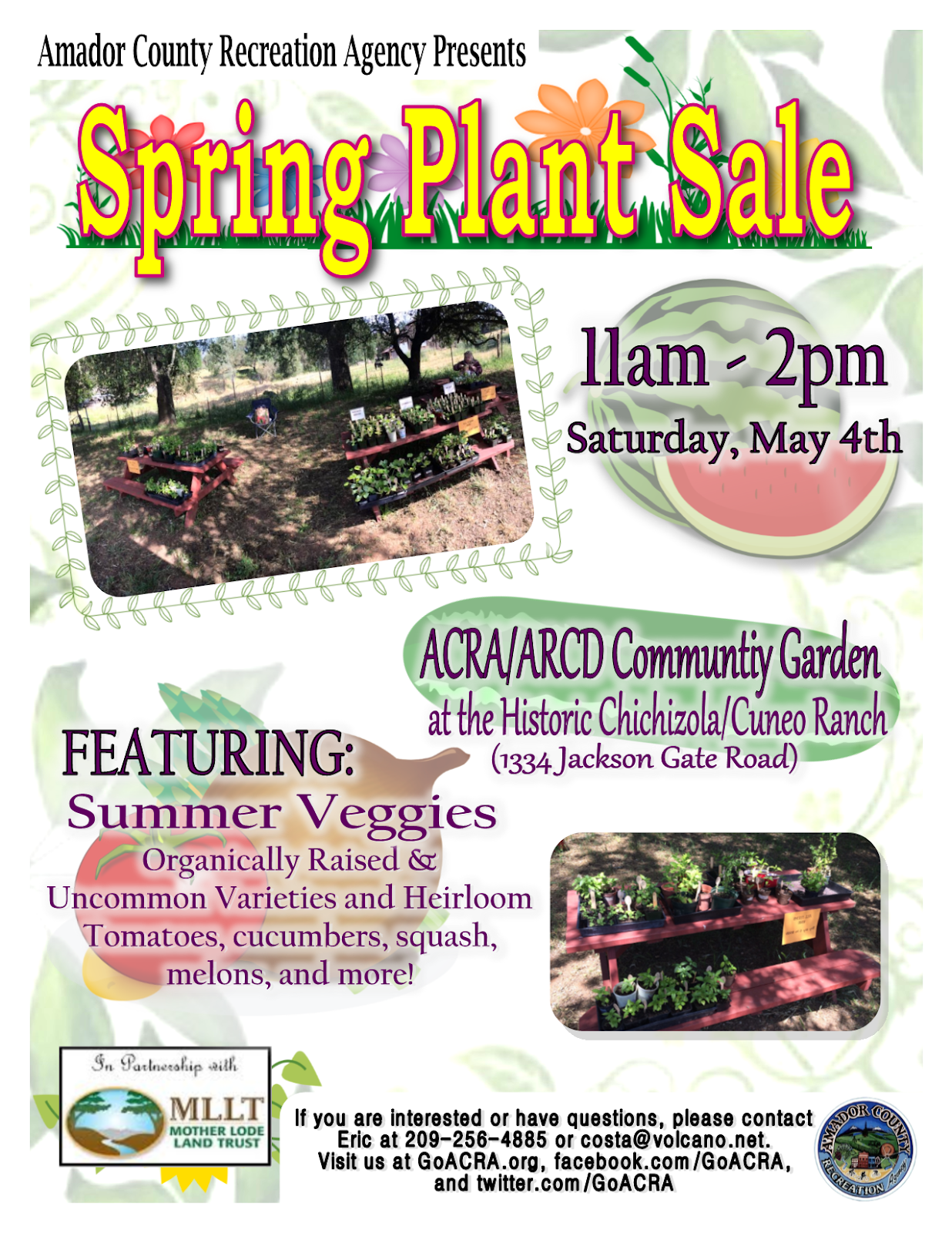 ACRA/ARCD Spring Plant Sale - Sat May 4