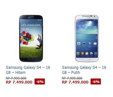 Harga promo Samsung Galaxy S4 dari Lazada.co.id Bangun