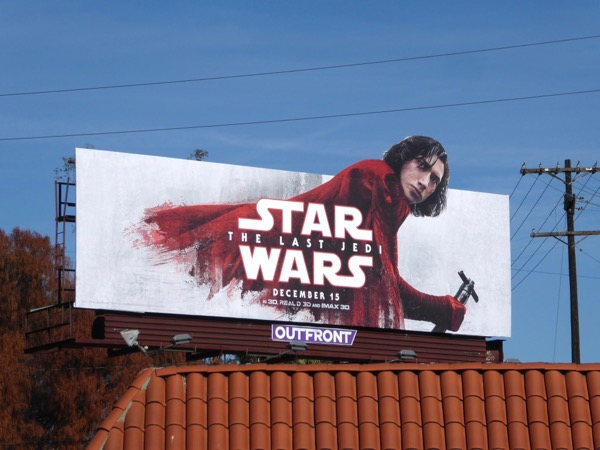 Star Wars Last Jedi Kylo Ren billboard