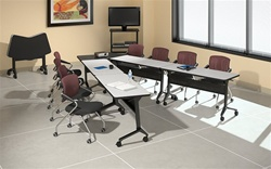 Flip-N-Go Training Room Tables
