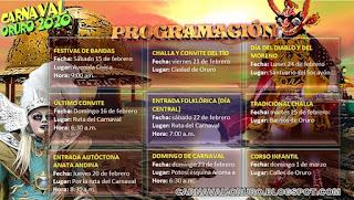 Programa del Carnaval de oruro 2020