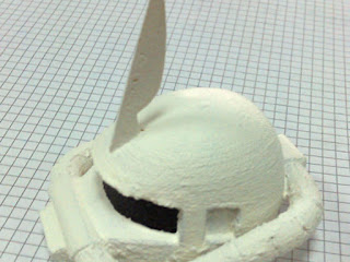 Zaku Head 3D Printed antes