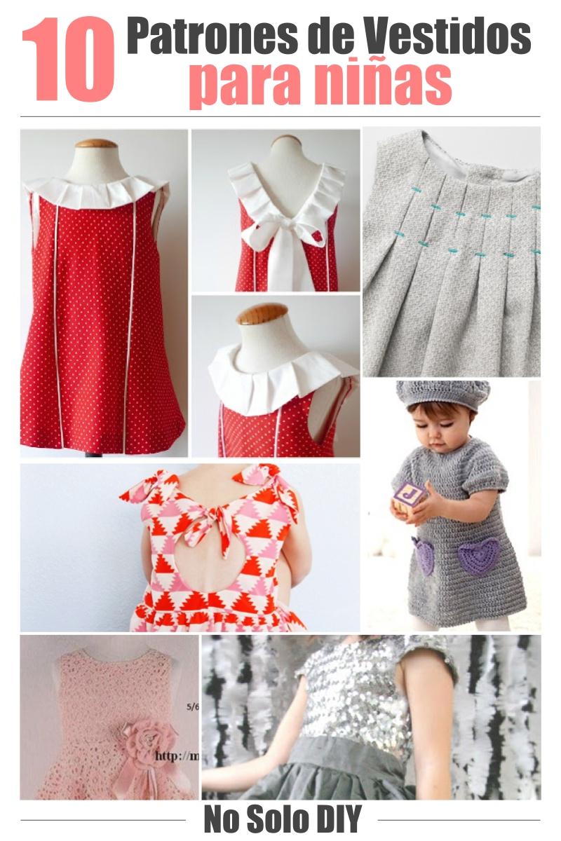 No Solo Diy 10 Patrones Para Vestidos De Niñas