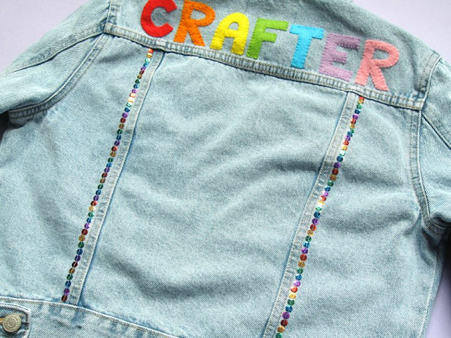 Customise a denim jacket with sequins