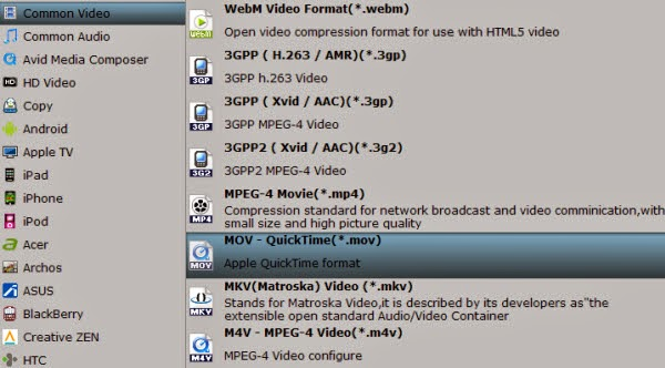 format for rip DVD to QuickTime MOV