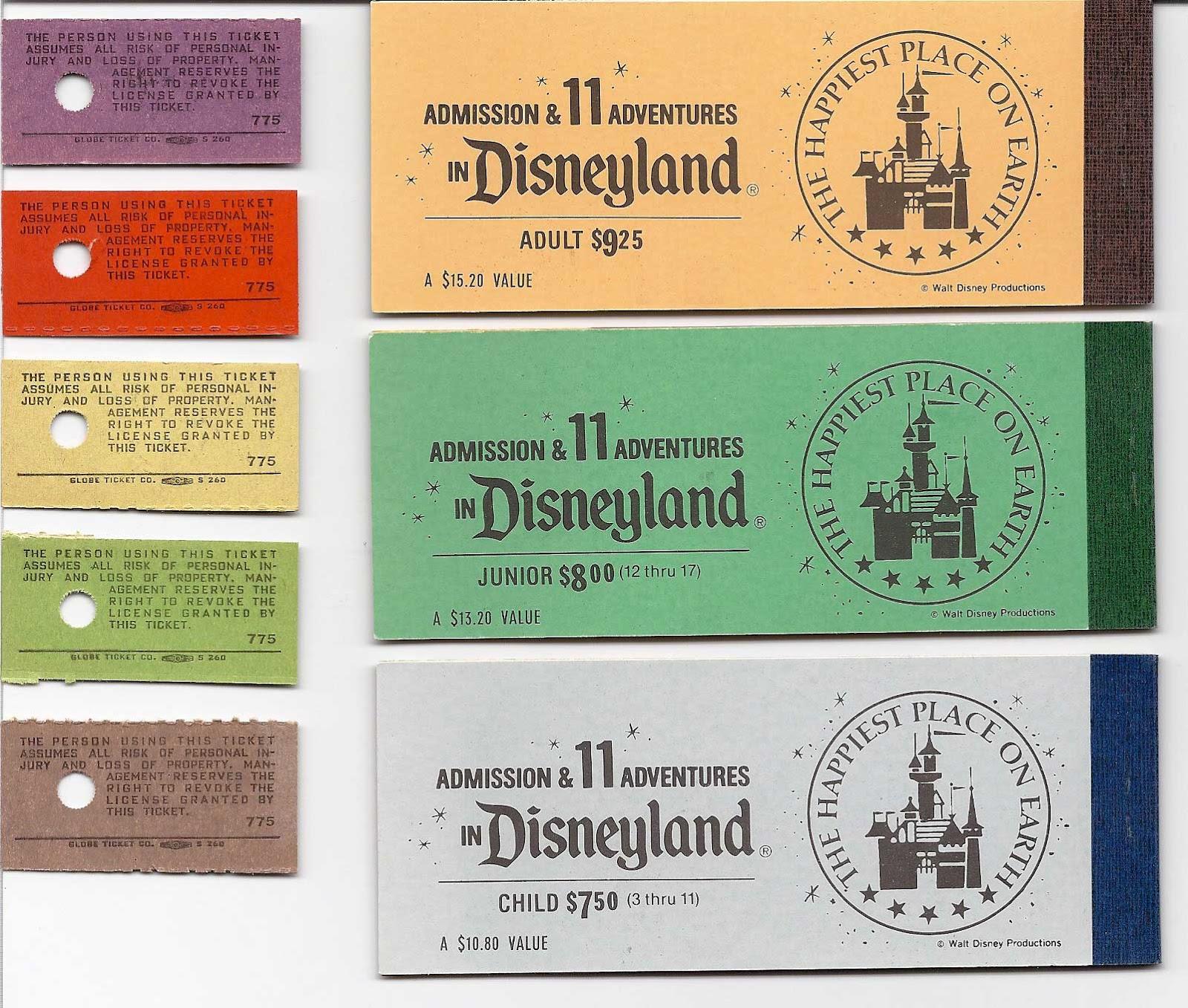 Tickets: Vintage Disneyland Tickets: The Last Disneyland Ticket