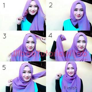 Tutorial hijab segi empat sederhana untuk remaja