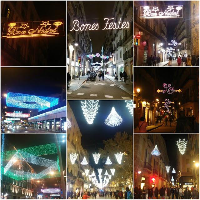 Mercados e decoração de Natal em Barcelona 2016 - ruas do bairro Gótico, arredores da Plaça Catalunya e Plaça Universitat