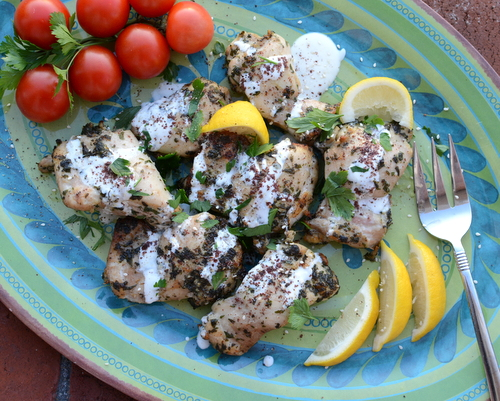 Easy Garlic-Herb Mediterranean Chicken aka Med Chicken ♥ KitchenParade.com