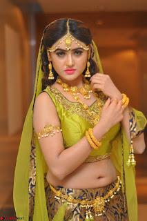 Sony Charishta in Green Choli Ghagra Transparent Chunni Ethnic Wear March 2017 070.JPG
