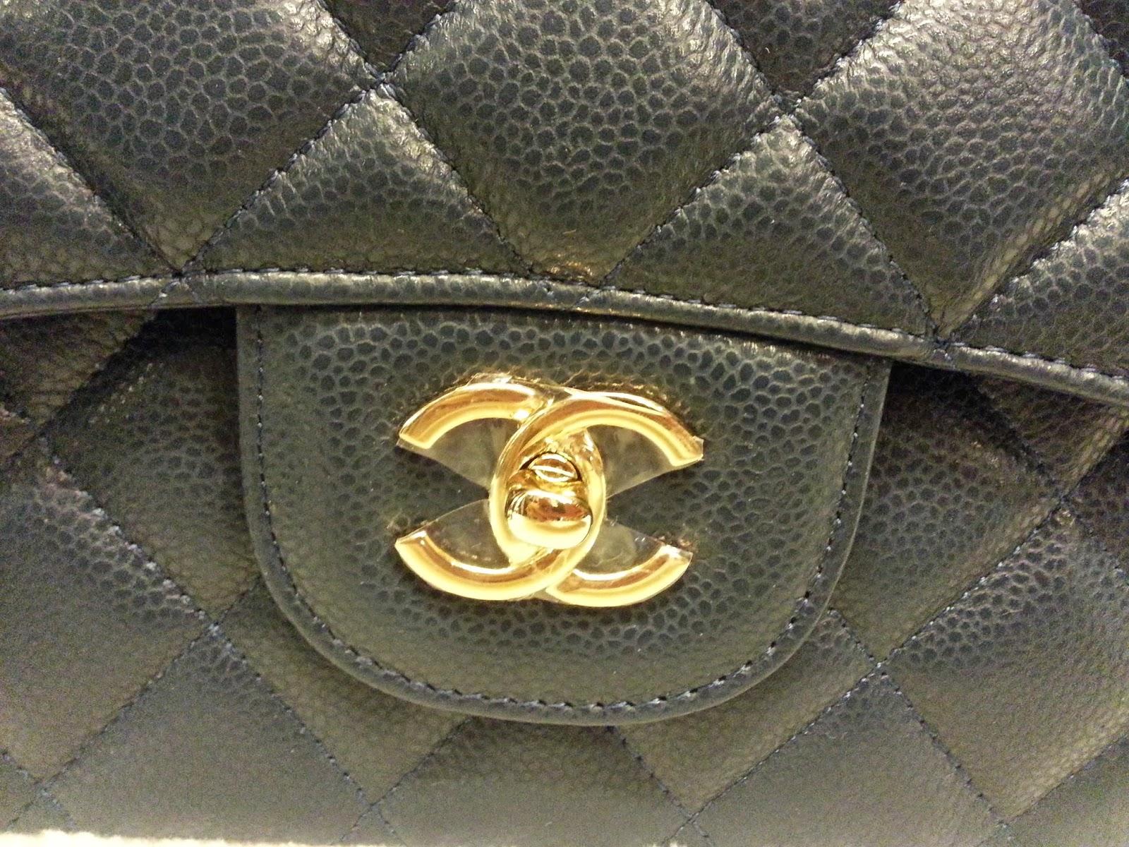 45066cb84c65 Deal Treasure: Chanel Classic Jumbo Dark Blue Caviar Leather Double ...