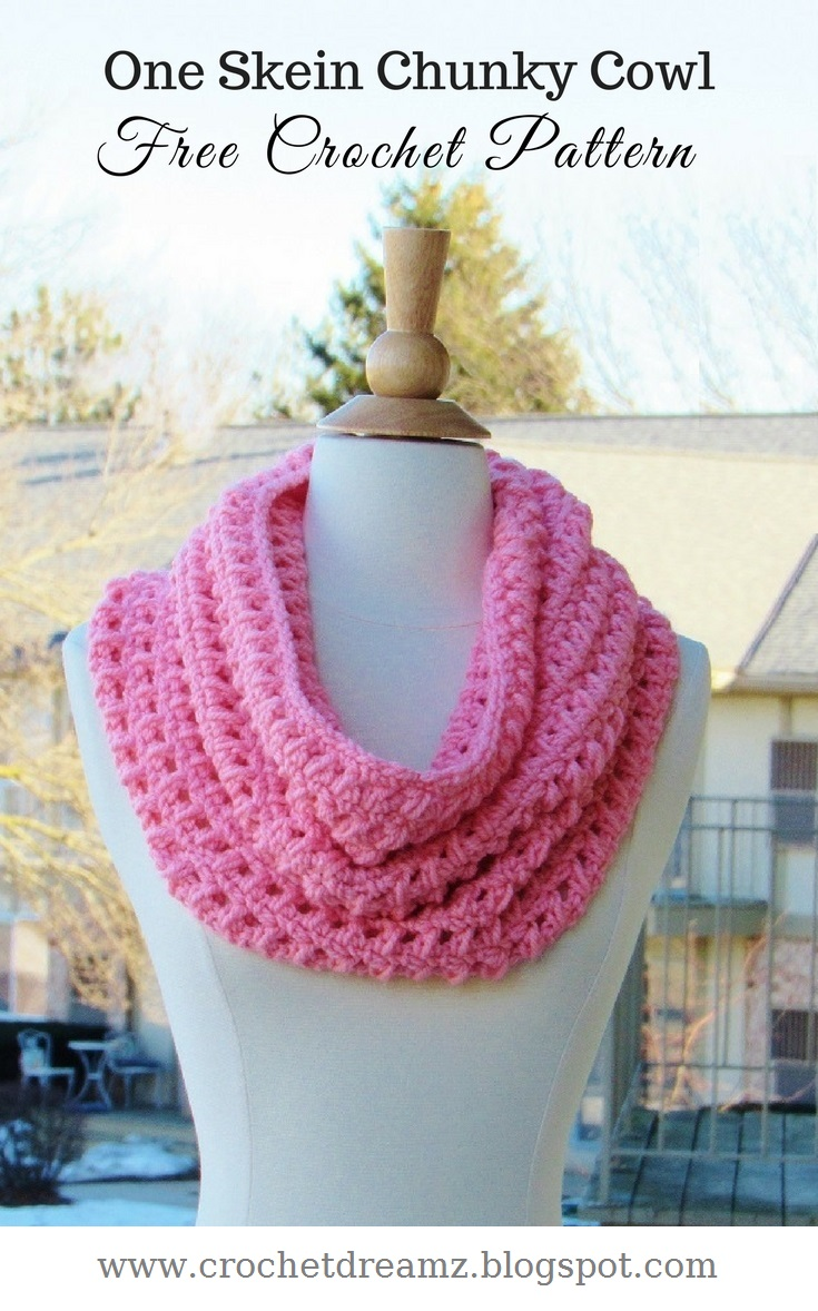How to Crochet a One Skein Cowl, Free Crochet Chunky Cowl Pattern ...