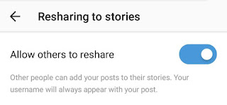 Disable post resharing
