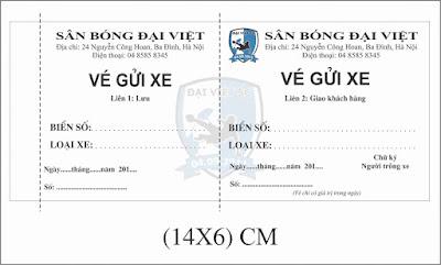 In vé gửi xe giá cực rẻ - lấy ngay tại Hà Nội