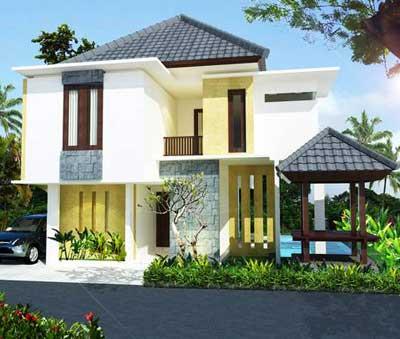contoh desain rumah mewah 2 dan 1 lantai | model rumah