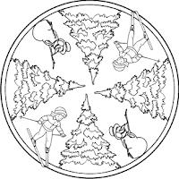 malvorlagen zum ausmalen: winter malvorlagen: mandalas zum ausmalen