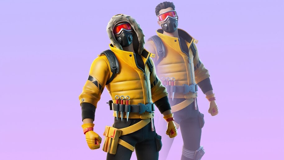 Caution, Fortnite, Skin, Outfit, 4K, #7.879