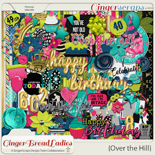 Creative Team, Annemarie, for GingerScraps -  2019 Free with Purchase - GingerBread Ladies Collab: Over The Hill