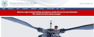 Coast Guard web page - screen grab