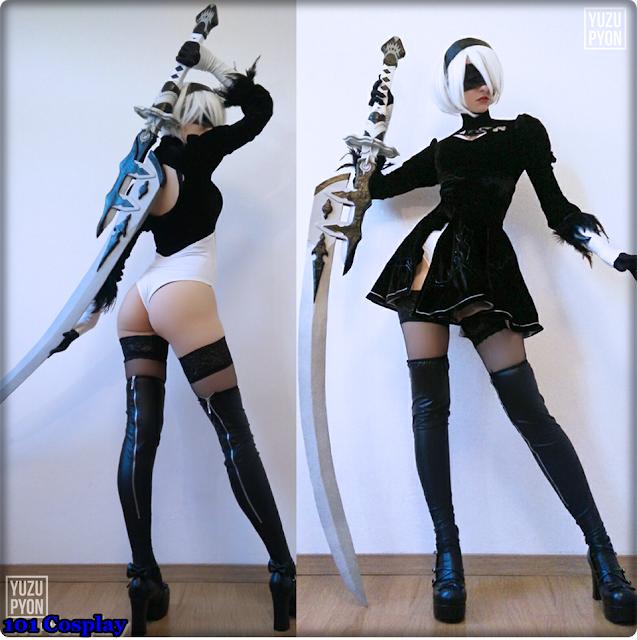 Nier Automata 2b 2B cosplay by YuzuPyon