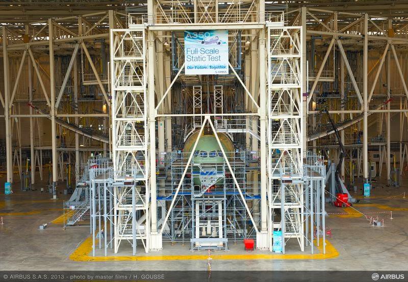 Airbus A350 Passes Maximum Wing Bending Test - Aviation