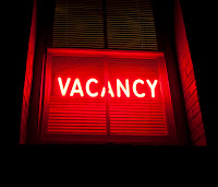 Image of vacancy neon sign