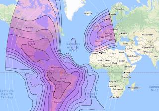 Satellite Beam Intelsat 21 58.0°W C Band