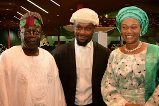 Bola Ahmed Tinubu with Wife and Son - Photo