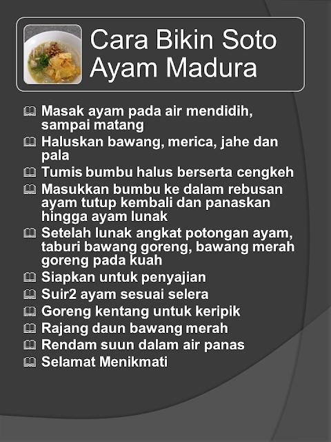 Resep Masakan Soto Madura Lezat