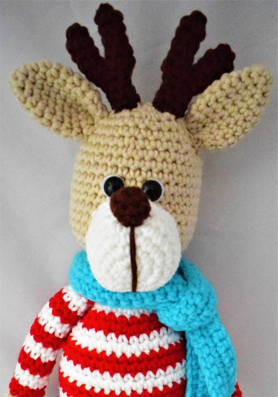 Amigurumi de NAVIDAD del reno Rudolph a crochet...patrón gratis ...   1600x1121