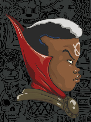 Doctor Strange & Brother Voodoo Marvel Screen Prints by Hebru Brantley x Line Dot Editions