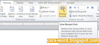 Cara Membuat Mail Merge Word