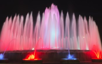Wallpaper: Fountains in Barcelona