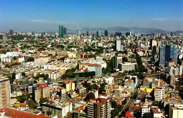 vista do restaurante Belini - Cidade do México