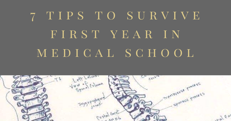 7 tips to survive the first year in Medical School - All