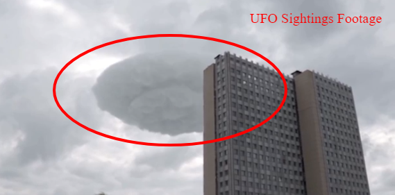 UFO Hiding In The Clouds Over Moscow Russia With Defining Features