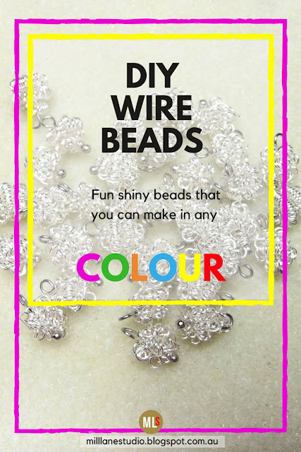 Make your own crazy wire coiled beads from wire inspiration sheet.