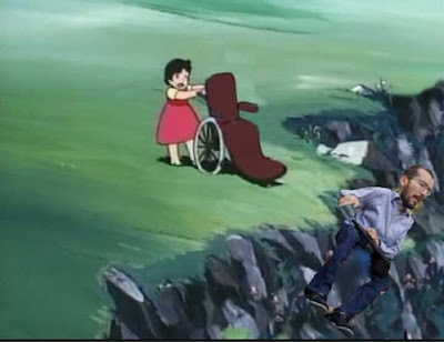 Heidi tirando a Echenique a un precipicio