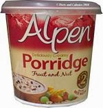 Alpen porridge fruit and nut