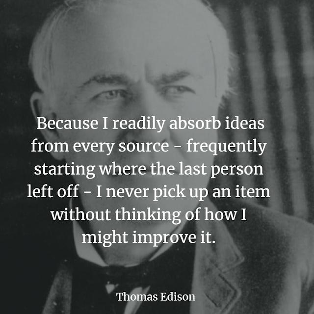 Thomas Edison quote about success