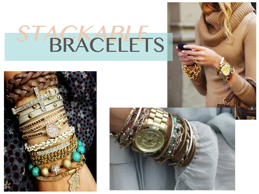 Stackable Bracelets Embrace The Trend