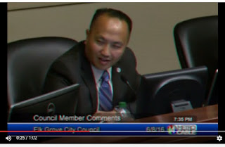 Elk Grove Vice Mayor Steve Ly Insults 100-Year old Resident Awarded 'Key to the City'