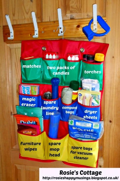 Kitchen cupboard pocket storage