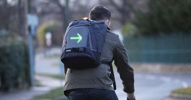 Go Led حقيبة ظهر ذكية تضمن سلامة راكبي الدراجات