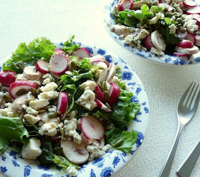 Radish & Blue Cheese Salad