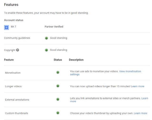 Earn more money from YouTube - partner program enabled.